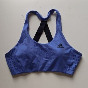 Blue Adidas Open Back Sports Bra